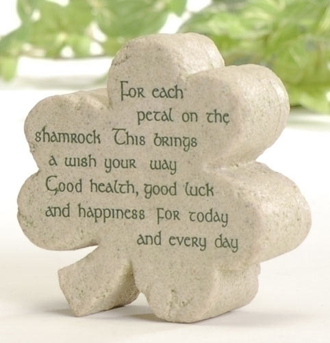 Irish Blessing Shamrock Plaque St Patrick's Day