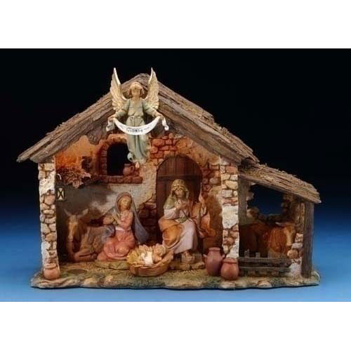 Fontanini Lighted Nativity Set - 5 piece, 5in scale