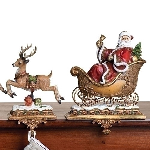 Santa and Sleigh Christmas Stocking Holder