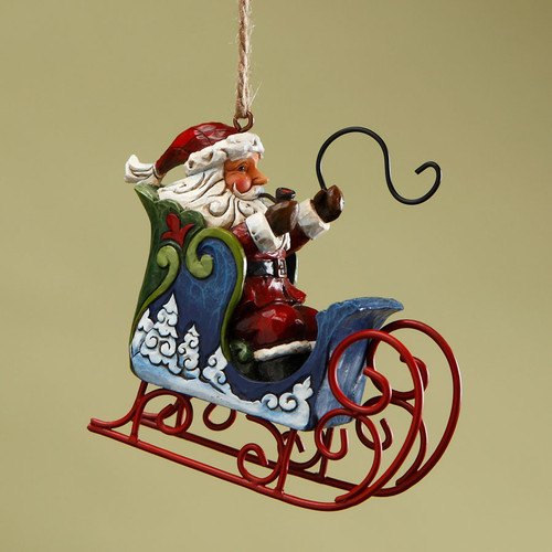 Jim Shore Santa in Sleigh Christmas Tree Ornament