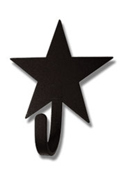 Wrought Iron Star  refrigerator magnet hook