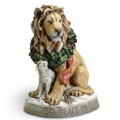 Lion and the Lamb Christmas Statue - 20in tall