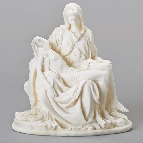 White Pieta Jesus in Mary's Arms Figure
