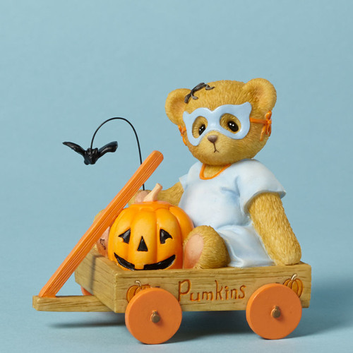 Cherished Teddies Halloween Bear in Mask figurine