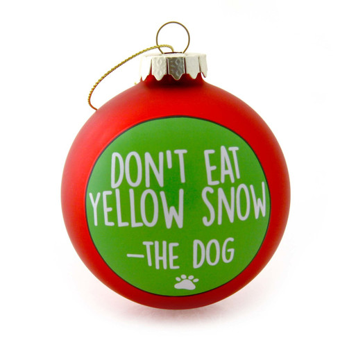 Yellow Snow Dog Ornament