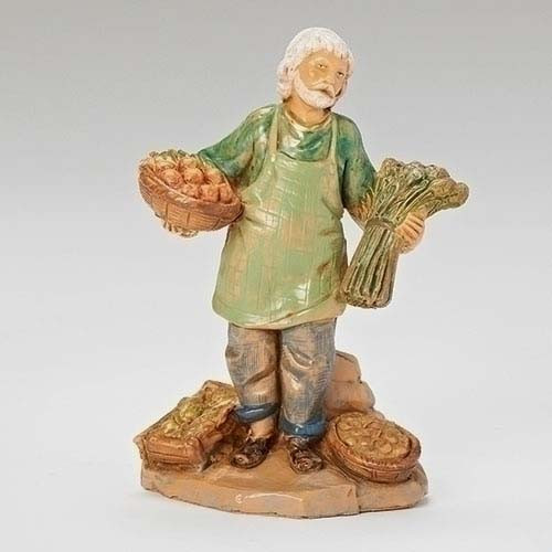 "Fontanini Nativity Figure - Armoni Produce Merchant, 5"" Scale"