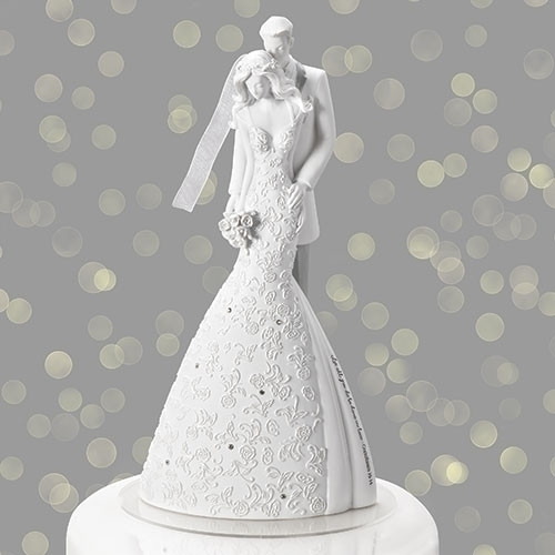 Wedding Cake Topper Cherish by Gina Freehill