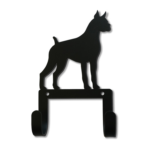 Boxer Dog Leash and Collar Wall Hook