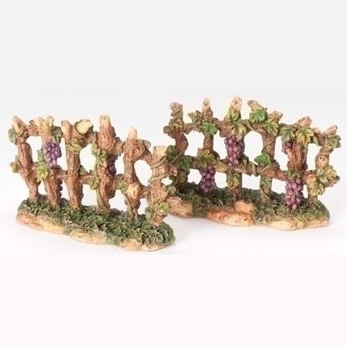 Fontanini Nativity Village grapevine fence | 5 inch scale
