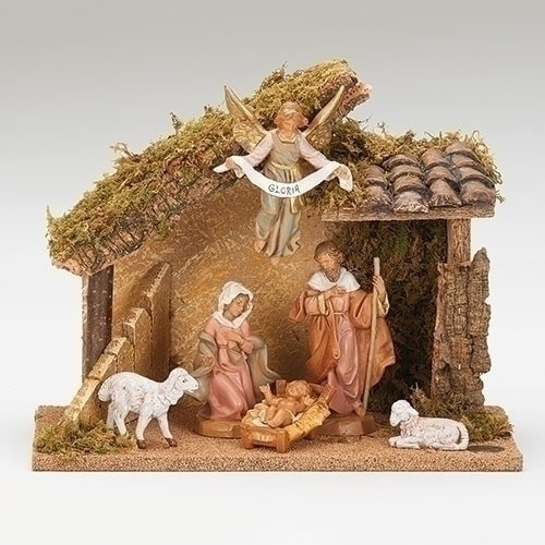 Fontanini Nativity Set 6 pc with Stable