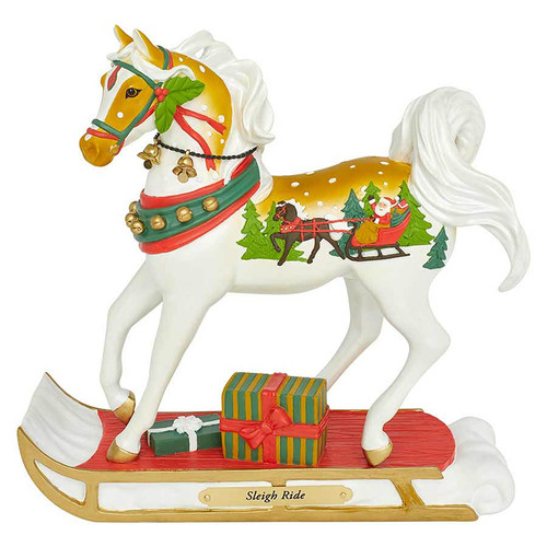 Trail of Painted Ponies Horse Figurine   Sleigh Ride