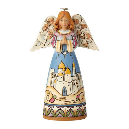 Angel with Nativity Scene figurine by Jim Shore | The Collectors Hub