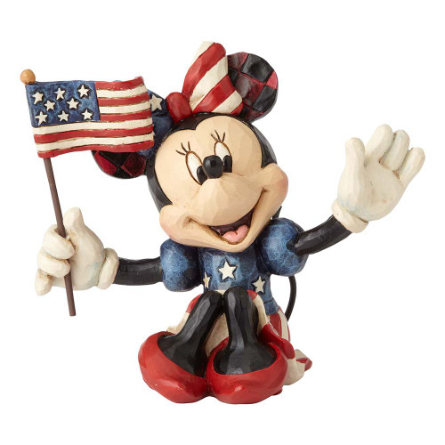 Jim Shore Patriotic Minnie Mouse figurine | The Collectors Hub