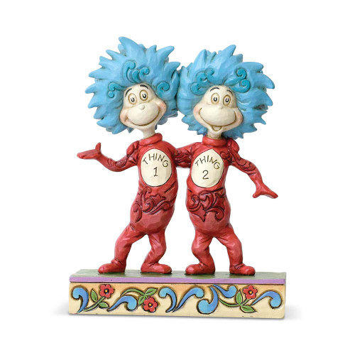 Dr Seuss Thing 1 and Thing 2 figurine by Jim Shore