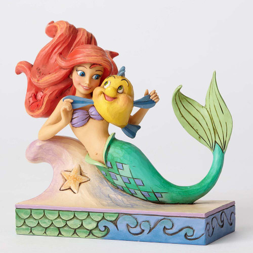 Jim Shore Disney Ariel with Flounder Figurine