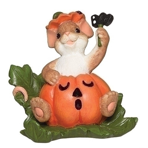 Charming Tails Halloween Mouse figurine