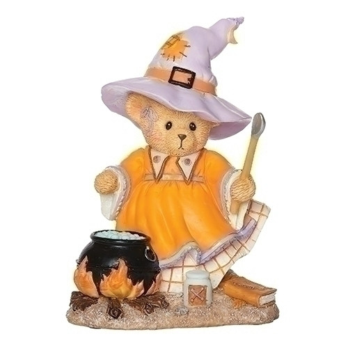 Cherished Teddies Halloween Witch Gretel with Cauldron figurine