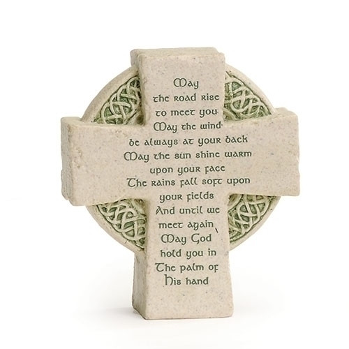 Celtic Cross Desk Plaque
