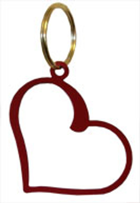 Red Heart Shaped Key Chain