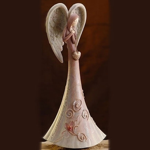 "Gina Freehill Peace by Piece Angel figurine ""Peaceful Heart"" 