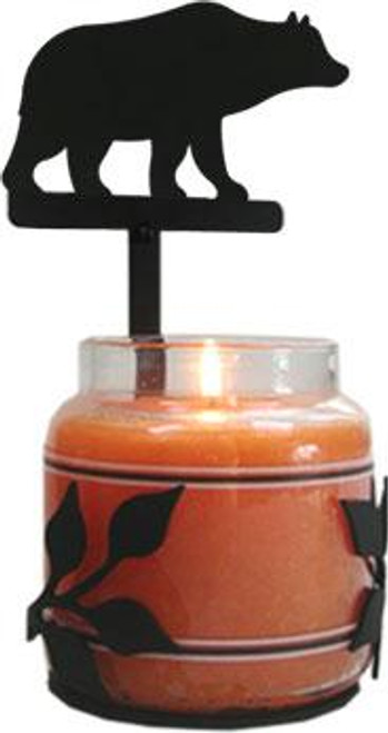 Grizzly Bear Large Candle Jar Sconce
