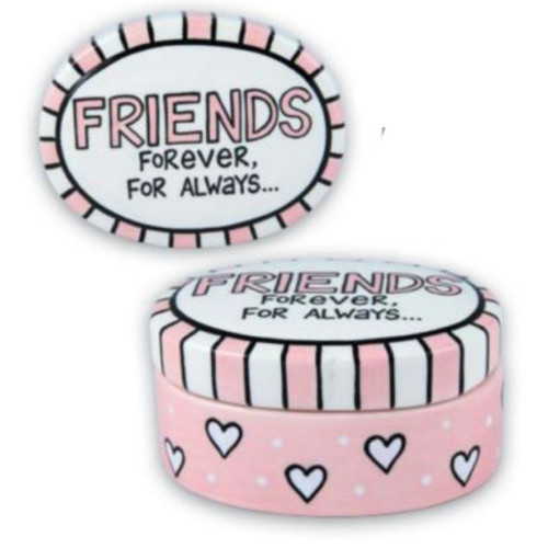 Our Name is Mud Friends Forever Trinket Box