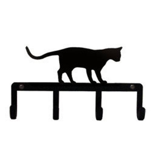 Wrought Iron Key Holder - Cat at Play