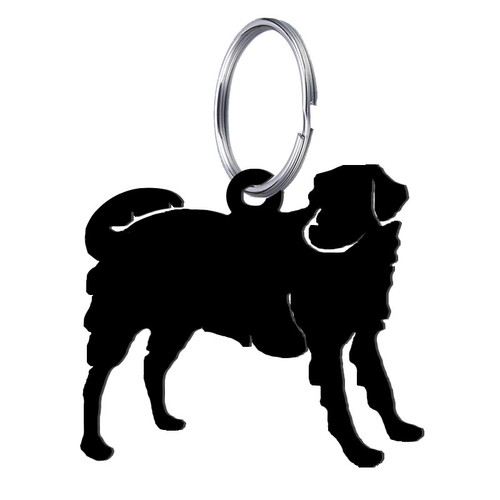 Black dog keychain - Wrought Iron