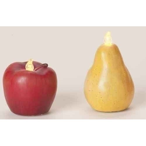 Glitter Apple & Pear LED Light Set