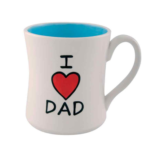 I Heart Dad Coffee Mug - Father's Day Gift