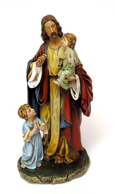 Jesus with Children Figurine by Joseph's Studio