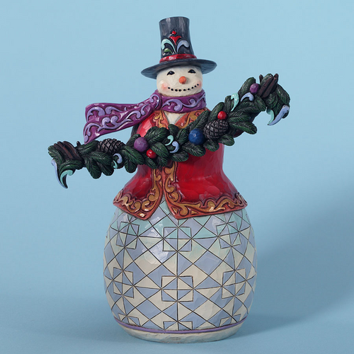 Jim Shore Snowman Figurine - Good Tidings