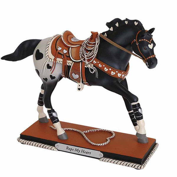 Trail of Painted Ponies Horse Figurine Rope My Heart