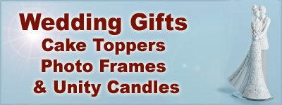 Shop for Wedding Gifts, Wedding Cake Toppers, Wedding Photo Frames, Wedding Candles