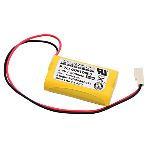 Emergency Lighting Dual-Lite 120822 Replacement Battery
