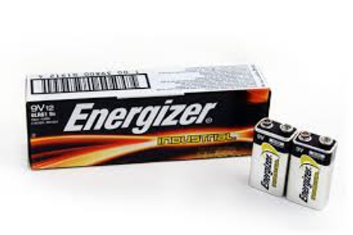 ENERGIZER INDUSTRIAL 9VOLT (BOX OF 12)