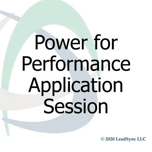 Power for Performance Application