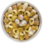 Assorted Maamoul & Ghraybeh pieces beautifully arranged on a circular tray - Top view - Libanais Sweets