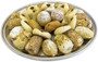 Assorted Maamoul & Ghraybeh pieces beautifully arranged on a circular tray - Front view - Libanais Sweets
