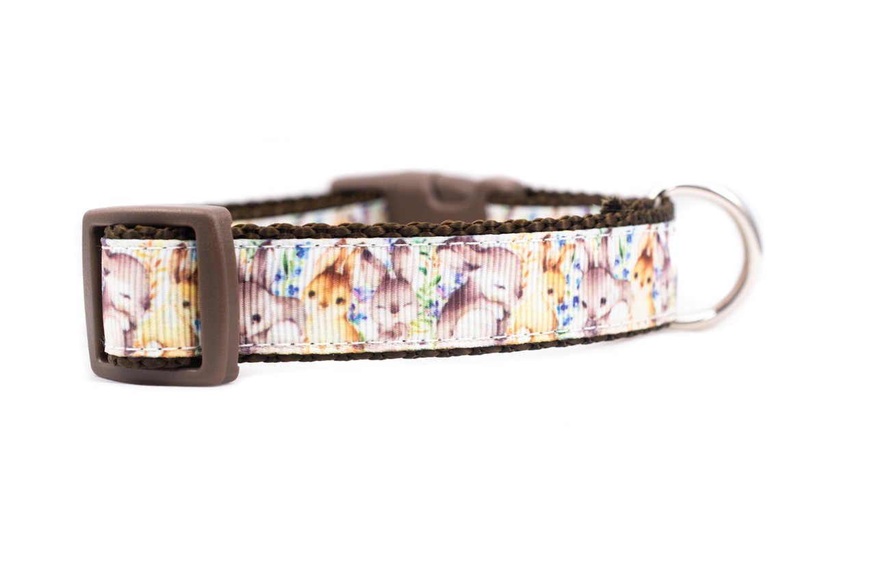Spring Easter Bunny Dog Collar 5//8 inch or 3//4 inch wide