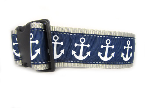 Nautical Dog Collar 2 Wide