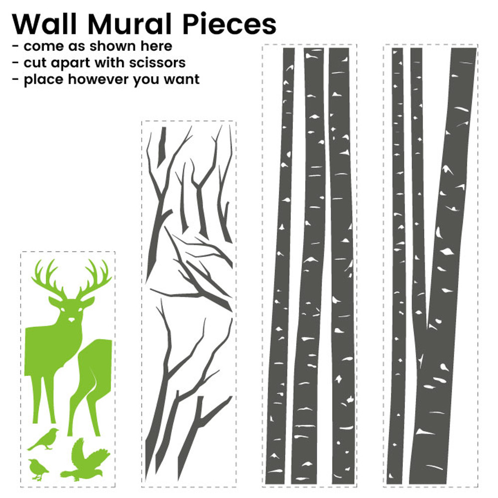 Wall mural pieces, these are the pieces you will receive to assemble on your wall.