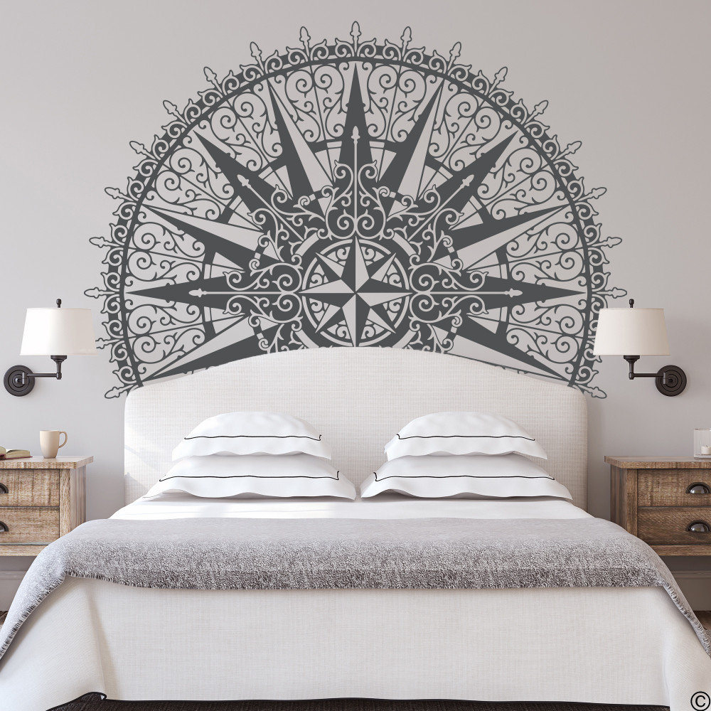 The Sherlock medallion wall decal, shown here in black color.