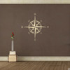 The Explorer Compass wall or ceiling decal shown here in beige vinyl.