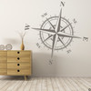 The Charles compass wall decal shown here in limited edition castle grey vinyl.