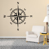 The Charles compass wall decal shown here in black vinyl.