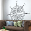 The Catalina compass rose wall or ceiling decal in brown