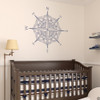 The Catalina compass rose wall or ceiling decal in dark blue