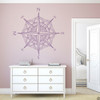 The Catalina compass rose wall or ceiling decal in violet