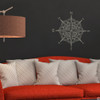 The Catalina compass rose wall or ceiling decal in warm grey